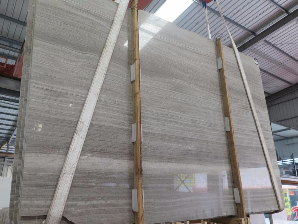 Good quality Gray-Wood marble slab