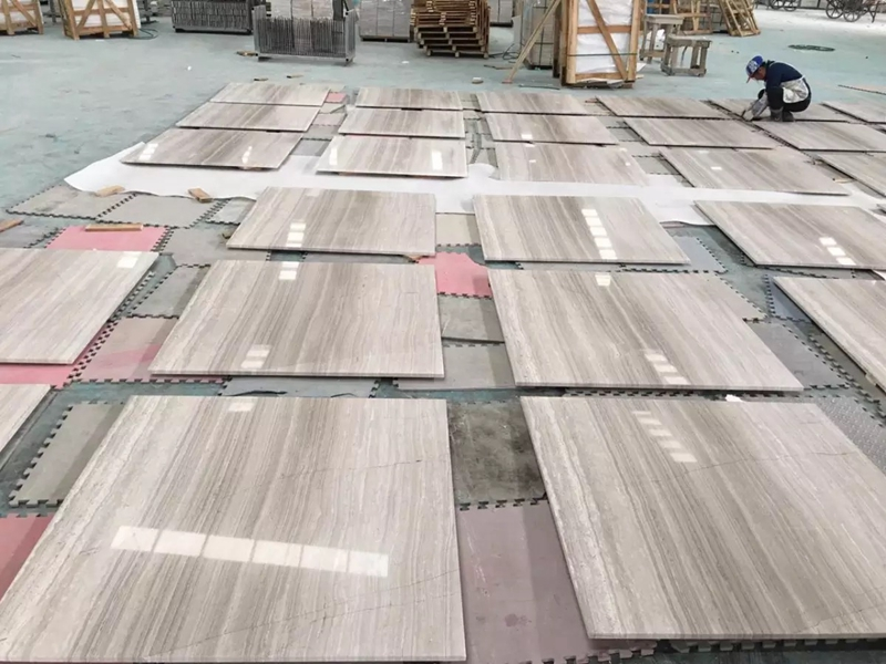 High quality White-wood marble ti