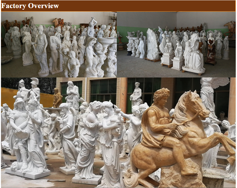 Natural stone female angel statues marble statues