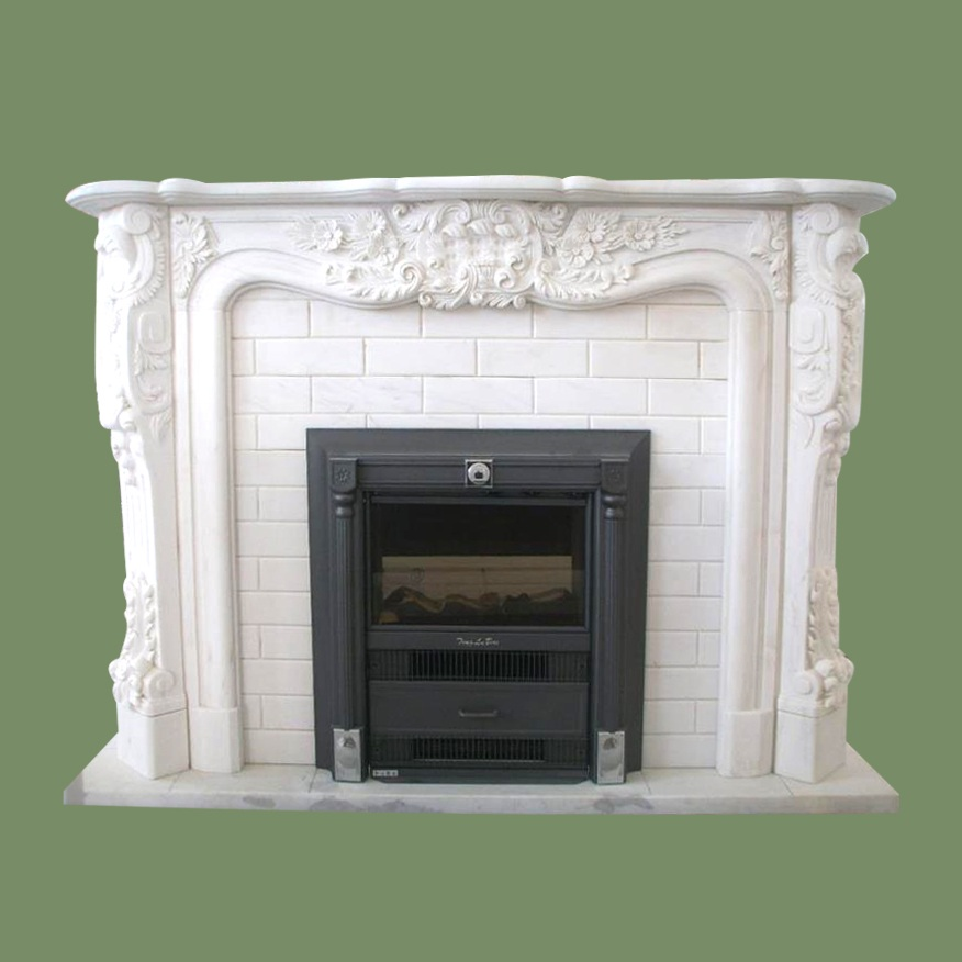 Pure white fireplace CT-2