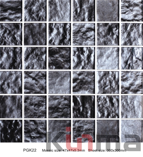 Glass mix stone mosaic tile with resin mosiac