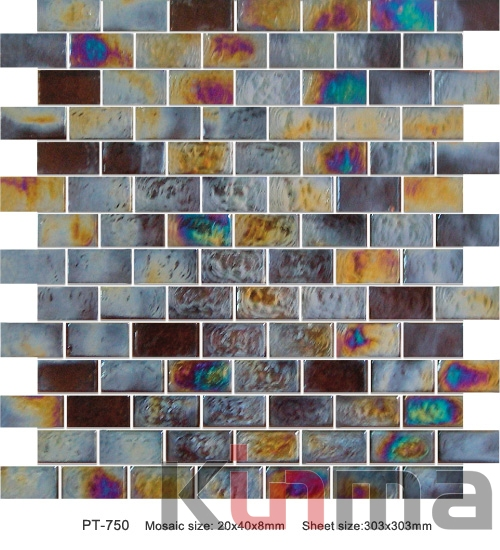 Golden color mosaic wall